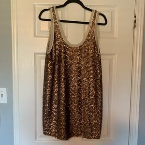 Wilfred gold sequin dress